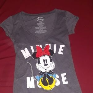 XS womens minnie mouse v neck